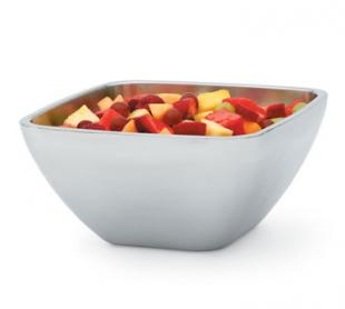 Vollrath Square Plain Double-Wall Insulated Bowl 5.2 qt. - 47675