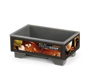 Vollrath Cayenne 72020 Full Size Rethermalizing Model 1220 Soup Merchandiser with Tuscan Graphics BASE UNIT ONLY - 720200002