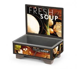 Vollrath Cayenne 72020 Full Size Rethermalizing Model 1220 Soup Merchandiser with Tuscan Graphics BASE ONLY with FLUSH MOUNT MEN
