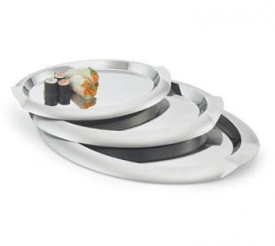 Vollrath Serving Tray large oval with integral handles - 82062