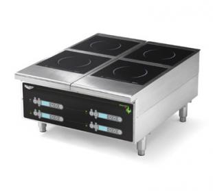 Vollrath Heavy-Duty Induction Hotplate - 4 Hob Digital Control Back of the House for Vollrath heavy-duty Countertop Cooking equi