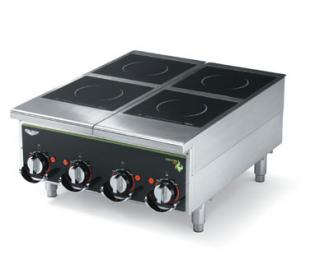 Vollrath Heavy-Duty Induction Hotplate - 4 Hob Manual Control Back of the House for Vollrath heavy-duty Countertop Cooking equip