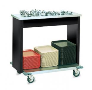 Vollrath Signature Server Classic Tray and Flatware Cart stainless steel finish - 99305