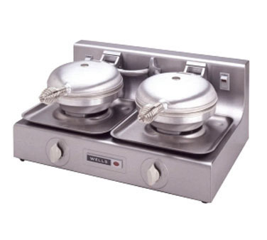 Wells Commercial Double Waffle Baker - WB-2E
