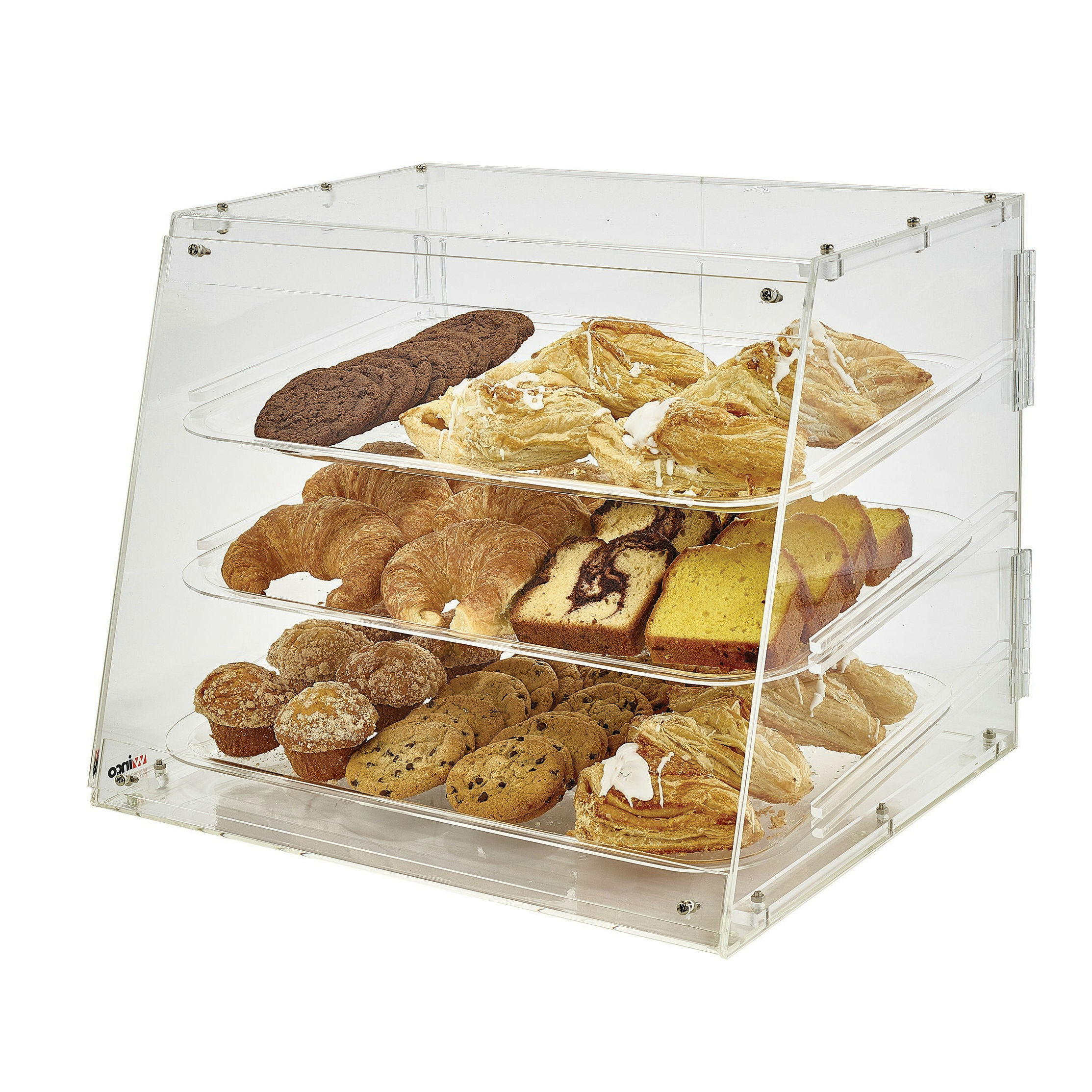 Winco ADC-3 Countertop Pastry Display Case, 3 Trays