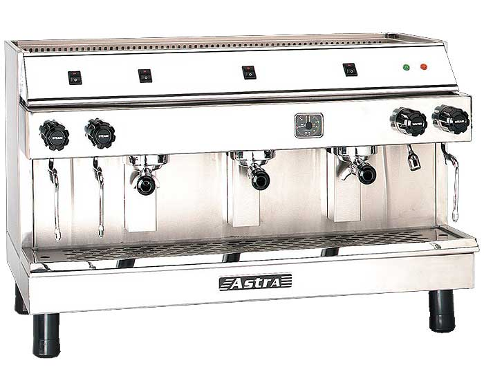 Astra Mega III Semi-Automatic Portion Control Espresso Machine 720 Cups Per Hour