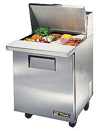 True Mega Top Sandwich / Salad Prep Table - TSSU-27-12M-C-HC