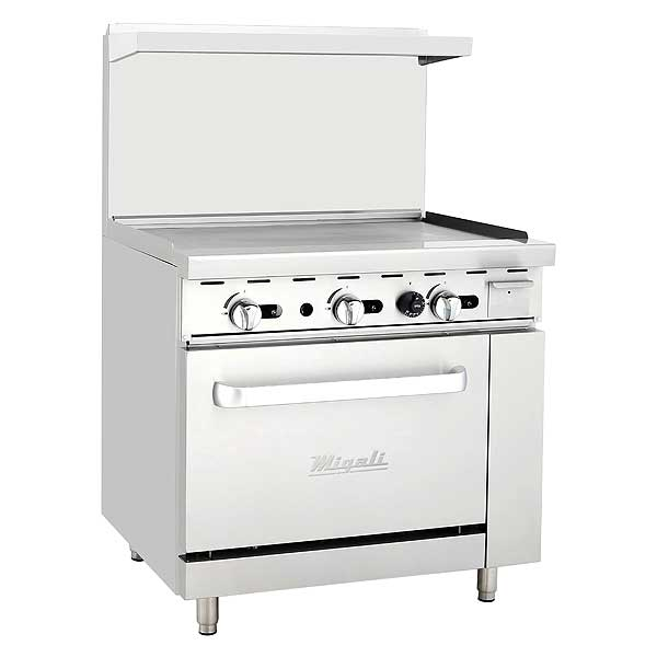"""Migali Competitor Series Range with Griddle Natural Gas 36"""" W - C-RO-36G-NG"""