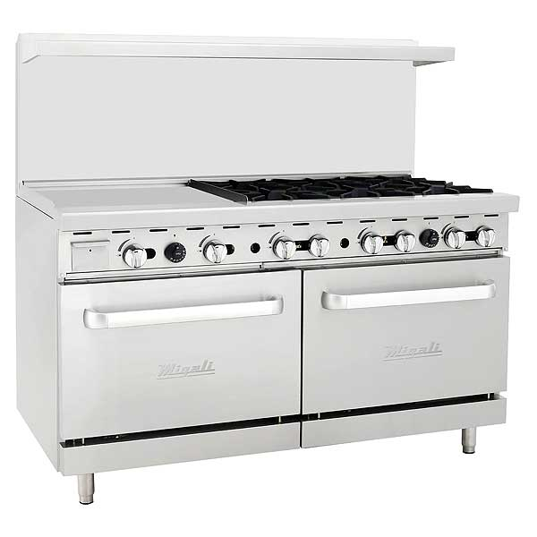 "Migali Competitor Series Range with Griddle Liquid Propane 60"" W - C-RO6-24GL-LP"