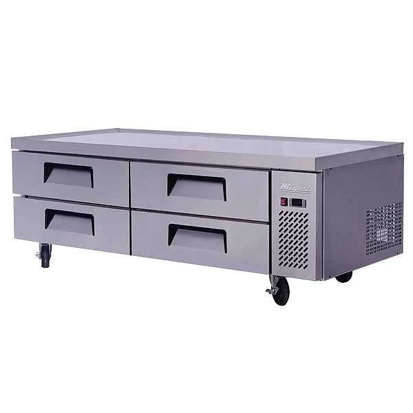 """Migali Competitor Series Refrigerated Equipment Stand/Chef Base Two-section 72.4"""" W - C-CB72-HC"""