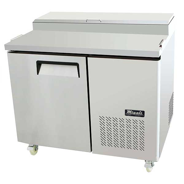 """Migali Competitor Series Refrigerated Counter/Pizza Prep Table Single Section 44"""" W - C-PP44-HC"""