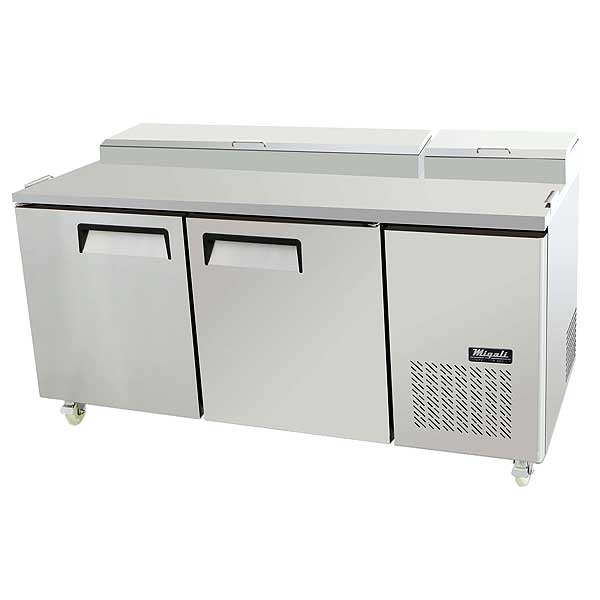 """Migali Competitor Series Refrigerated Counter/Pizza Prep Table Two-section 67"""" W - C-PP67-HC"""