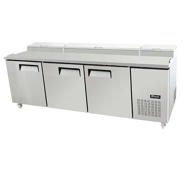 """Migali Competitor Series Refrigerated Counter/Pizza Prep Table Three-section 93"""" W - C-PP93-HC"""