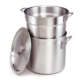 Crestware Aluminum Pasta Cooker With Insert And Cover