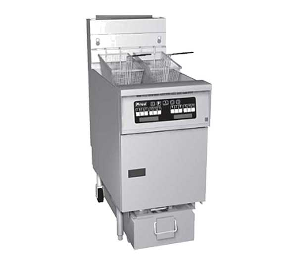 Pitco Solstice Prepackaged Fryer System with Solstice Solo Filter System High Power Gas - SG14RS-1FD