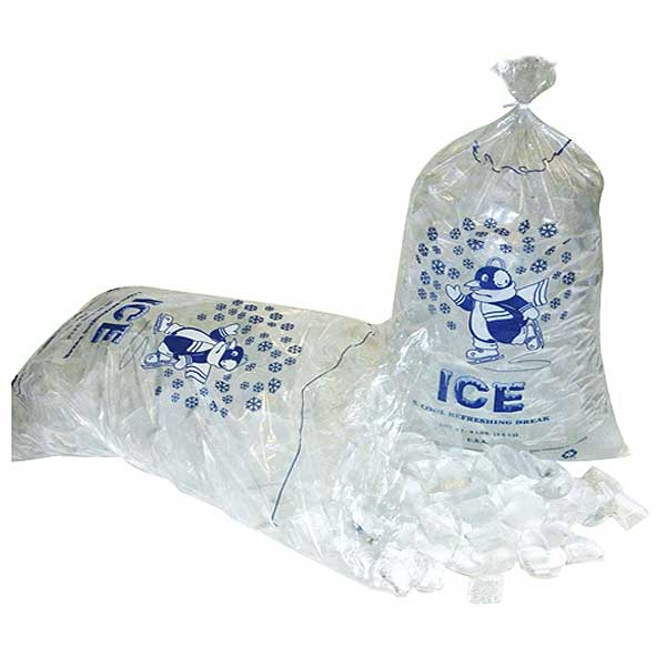 "Pitt Plastics/Inteplast (IC1221-TT) Ice Bag 10 Lb. 12"" X 21"" - 581317"
