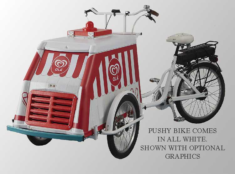 Alamo Fricon Pushy Bike Cart for Ice Cream Concession