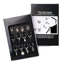 Gourmet Collection Wine Glass Charms - 8350-BXR
