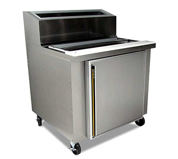 """Silver King Refrigerated Fountainette 36""""W Accommodates (4) 1/6 Pans & (5) Pumping Jars (not Included) - SKRN36-RSUS2"""