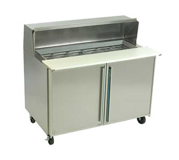 "Silver King Refrigerated Prep Table Two-section 48""W - SKEPT4812-SD-1-BM1 - SKP4812A-ESUS1"
