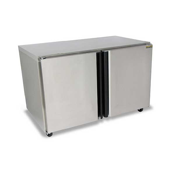 """Silver King Undercounter Refrigerator Two-section 48""""W - SKER48-SD-1-BK1"""