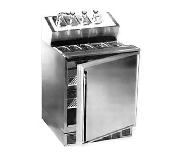 """Silver King Refrigerated Fountainette 27""""W Includes (2) 1/6 Size Pans & (3) 1/9 Pans - SKRNB27-RSUS2"""