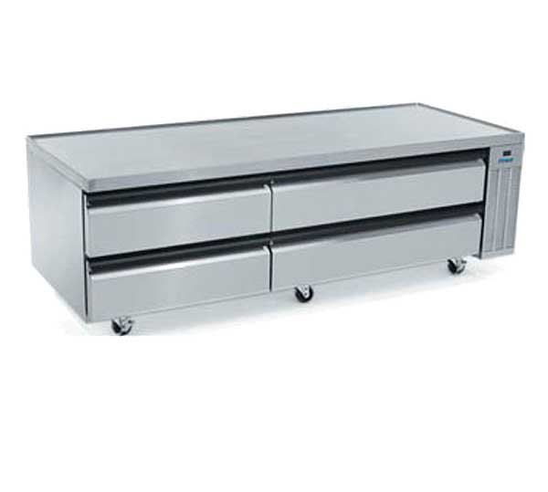 """Silver King High Capacity Freezer Chef Base Two-section 79""""W - SKFCB79H-FDUS10"""