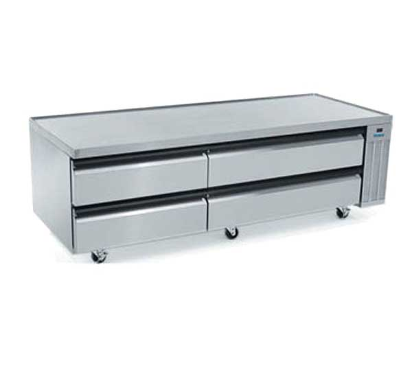 """Silver King High Capacity Freezer Chef Base Two-section 84""""W - SKFCB84H/C10"""