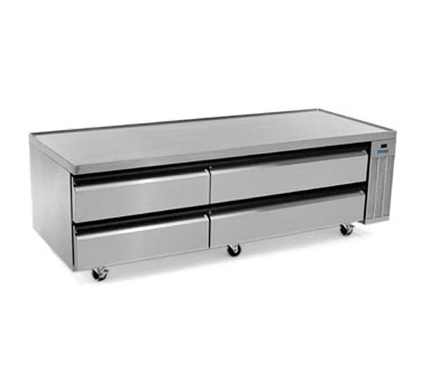 """Silver King High Capacity Refrigerated Chef Base Two-section 79""""W - SKRCB79H/C10"""