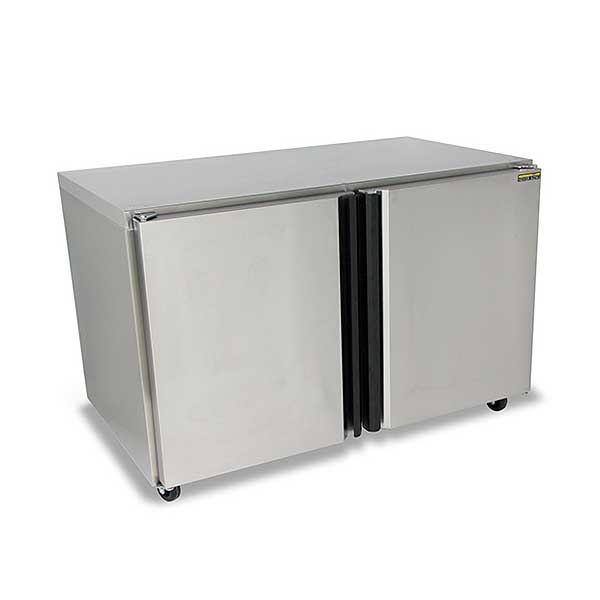 """Silver King Undercounter Freezer Two-section 48""""W - SKEF48-SD-1-BK1"""