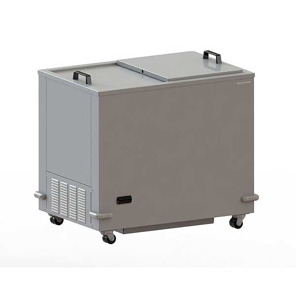 """Silver King Mobile Freezer/Meat Well 34""""W Insulated Sliding Lids - SKEFT34-IL-1-EJ1"""
