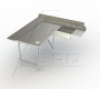 Aerospec Island Corner Dishtable with Sink / Landing Shelf Left - 2SDL-L-144