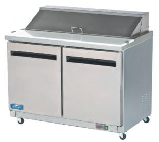 Arctic Air Mega Top Refrigerated Sandwich/Salad Prep Table, 2 Doors - AMT48R