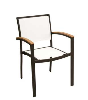 Florida Seating Chair - White texylene, Black frame finish AL-5624-BLACK-WHITE