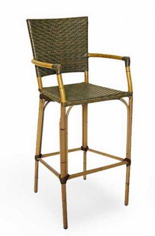 Florida Seating Bamboo Bar Stool