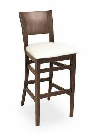Florida Seating Bar Stool CN-94B-GR1-WAL-EBONY