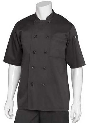 Chambery Short-Sleeve Chef Coat