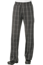 Chef Works Black Plaid UltraLux Better Built Baggy Chef Pants