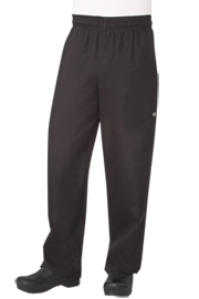 Chef Works Designer Baggy Pants, Black