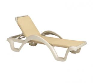 Grosfillex Catalina Sling Chaise with Arms, Set of 2