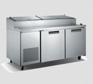 Metalfrio Pizza Prep Table, Two Section - PICL2-71-9