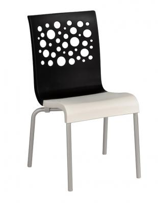 Grosfillex Tempo Stacking Side Chairs - Pack of 4 - Black - US021017