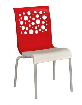 Grosfillex Tempo Stacking Side Chairs - Pack of 4 - Red - US021414