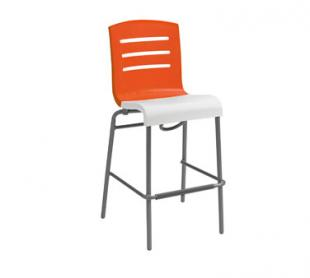 Grosfillex Domino Stacking Bar Stool US510019, Set of 8