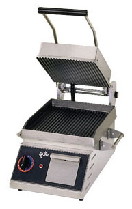 Star Panini Grill - 10x10, 2 Sided, Grooved Iron