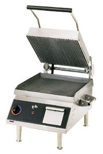 Panini Sandwich Grill, 14x14 Grooved Iron on 2 Sides