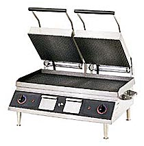 Panini Sandwich Grill, 14x28, Iron Grooved 2 Sides