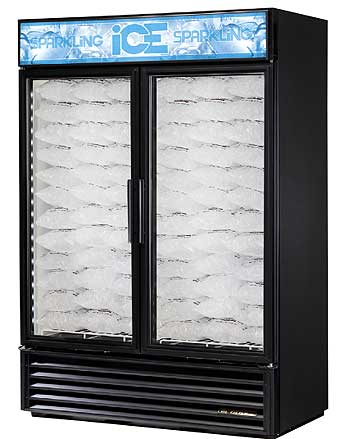 Glass Door Ice Merchandiser T-GDIM-49NT-LD - Black