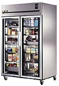 Stainless Steel, Deep Top Mount Glass Door Refrigerator T-TR2R-2G