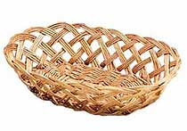 Natural Woven Oval Bread Baskets - One Dozen